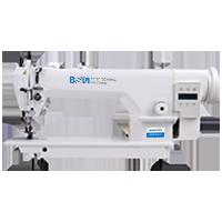 BSM 0303L-3-СХ-BD Одноигольная швейная машина челночного стежка с верхним и нижним двигателем ткани и увеличенным рукавом.