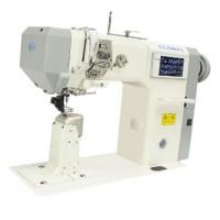 Двухигольная колонковая промышленная швейная машина с автоматическими функциями Global LP 8974 I AUT